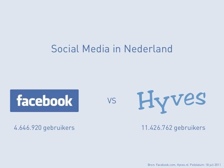 Social Media in Nederland                       VS4.646.920 gebruikers          11.426.762 gebruikers                     ...