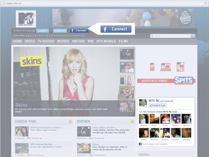 Facebook Places‣ Gebruikers kunnen inchecken bij locaties en evenementen. Alleen of met vrienden.‣ Vertelt vrienden wat ge...