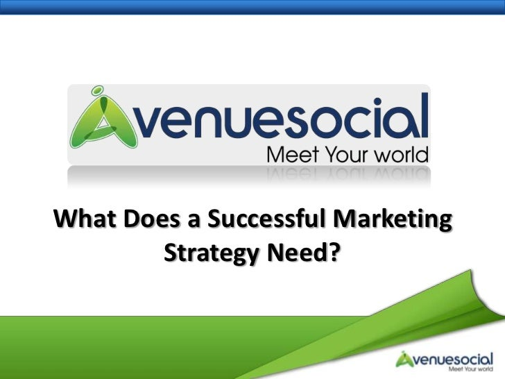 What Does a Successful Marketing Strategy Need?<br />