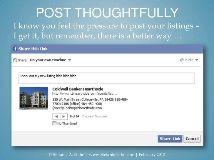POST THOUGHTFULLYI know you feel the pressure to post your listings –I get it, but remember, there is a better way …      ...