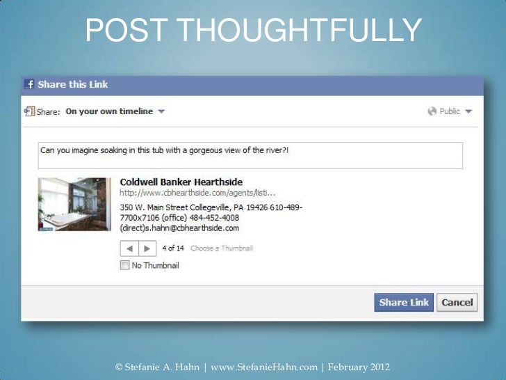 POST THOUGHTFULLY © Stefanie A. Hahn   www.StefanieHahn.com   February 2012