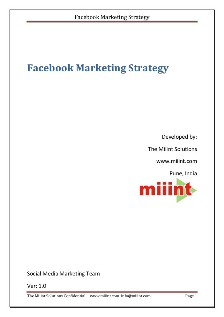Facebook Marketing StrategyFacebook Marketing Strategy                                                                    ...