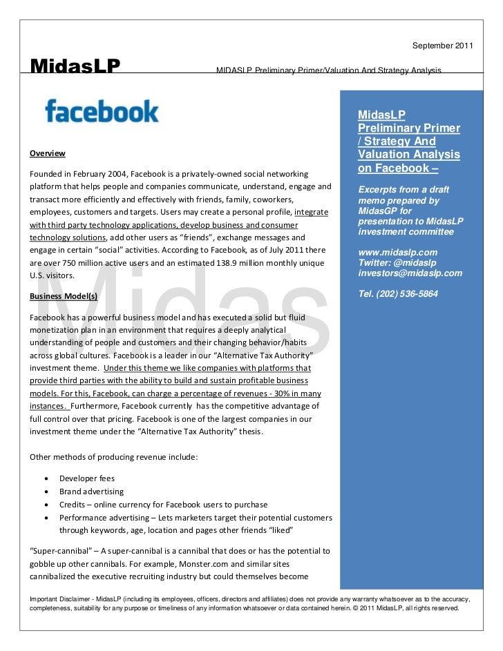 September 2011MidasLP                                                         MIDASLP Preliminary Primer/Valuation And Str...