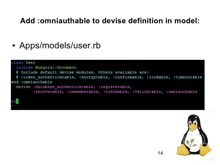 ... 14. Add :omniauthable To Devise Definition ...