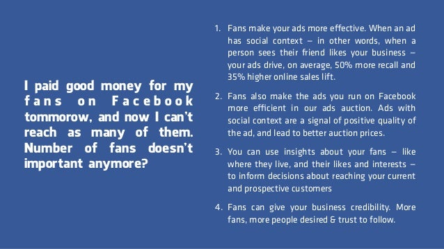 So, how should I use Facebook for my business?