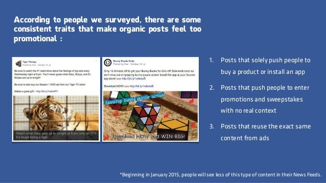 According to people we surveyed, there are some consistent traits that make organic posts feel too promotional : *Beginnin...