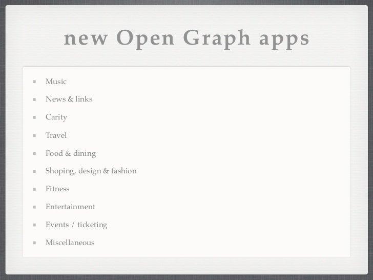 Facebook open graph Presentation