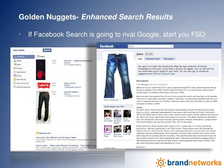 Golden Nuggets- Enhanced Search Results<br />·    If Facebook Search is going to rival Google, start your FSO<br />