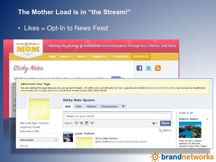 "The Mother Load is in ""the Stream!""   <br /><ul><li>  Likes = Opt-In to News Feed</li></li></ul><li>Stake Your Claim!  Hap..."