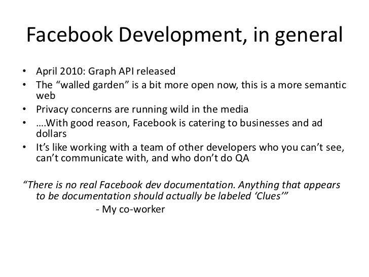 Facebook Open Graph Protocol and Graph API (NoVA Code Camp 2010.1) Slide 3