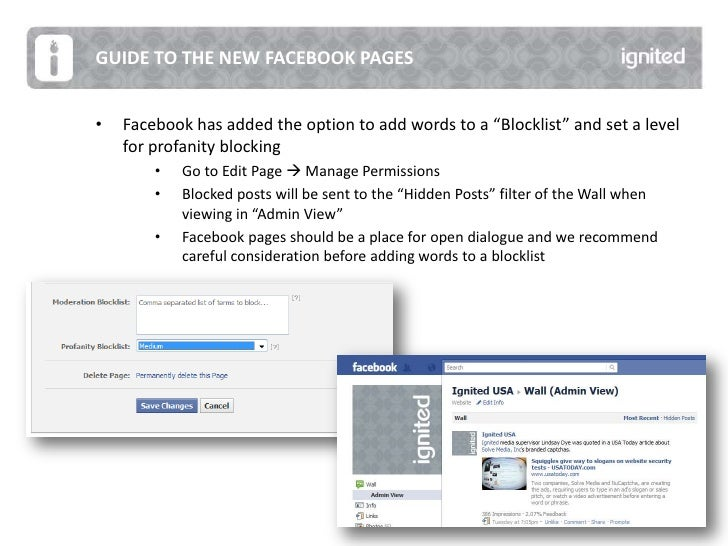 Ignited Guide to the New Facebook Changes