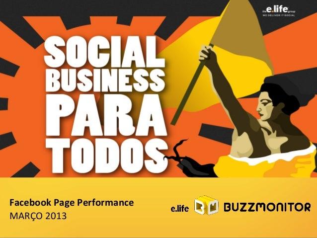 Facebook Page Performance MARÇO 2013