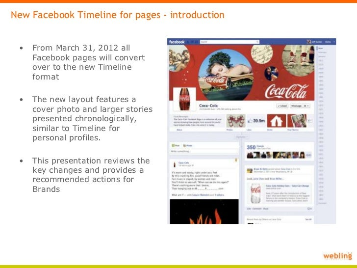 facebook pages timeline template key changes and actions for brands