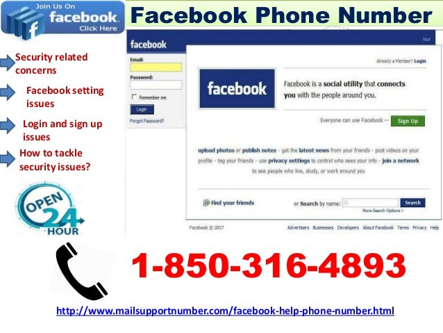 Is Facebook Phone Number really tough 1-850-316-4893?
