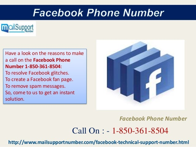 Is Facebook Phone Number a key to cope up with issues 1-850-361-8504?