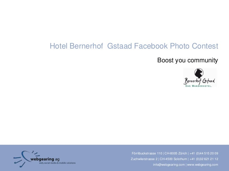 Hotel Bernerhof Gstaad Facebook Photo Contest                                       Boost you community                   ...