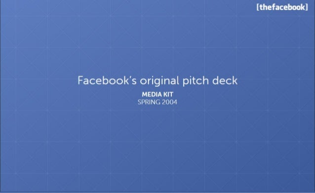Facebook Pitch Deck