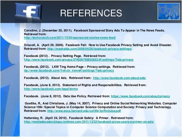 Facebook Policy Primer - Term of Use (TOS) by LKW Ting
