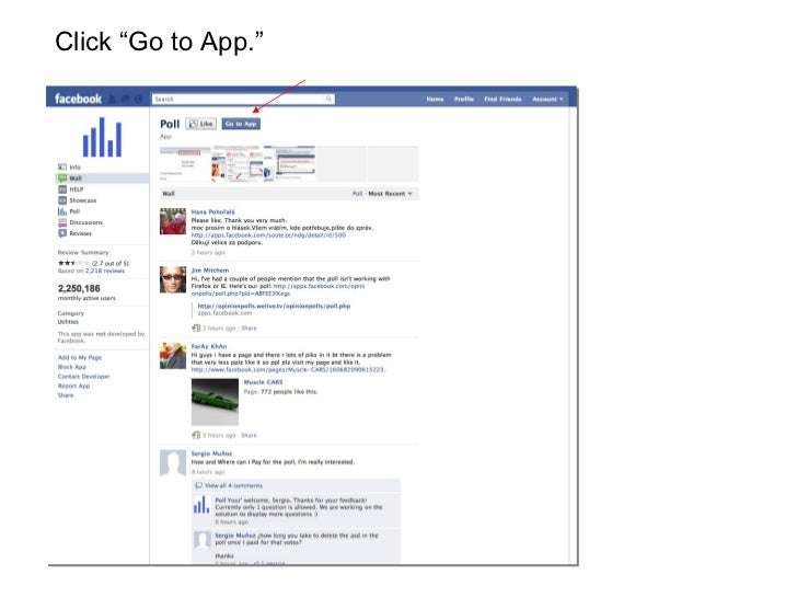 How to make a poll on facebook timeline
