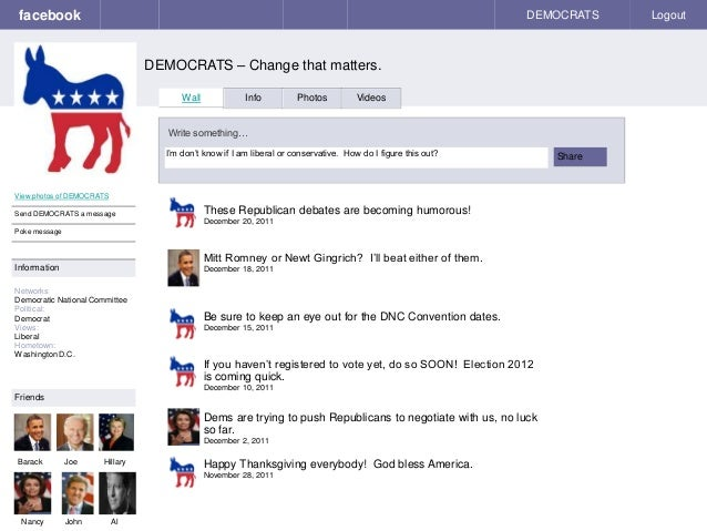 facebook DEMOCRATS – Change that matters. DEMOCRATS Logout View photos of DEMOCRATS Send DEMOCRATS a message Poke message ...
