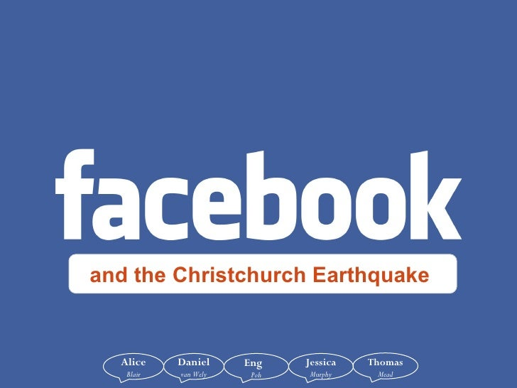 and the Christchurch Earthquake  Alice  Blair Daniel   van Wely Eng   Poh Jessica   Murphy Thomas   Mead