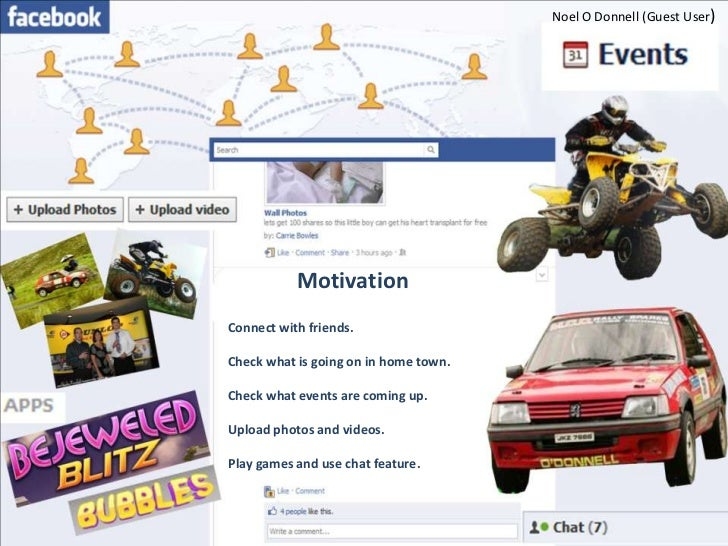 Noel O Donnell (Guest User)           MotivationConnect with friends.Check what is going on in home town.Check what events...
