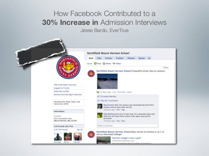 How Facebook Contributed to a30% Increase in Admission Interviews           Jesse Bardo, EverTrue