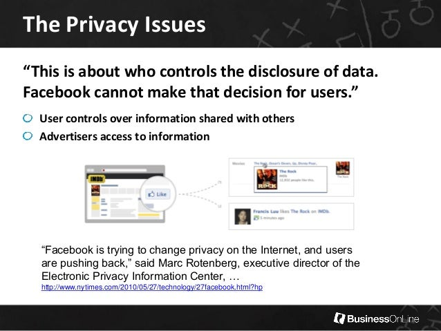 facebook privacy issue