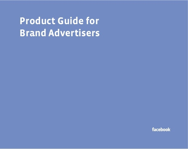 Product Guide for Brand Advertisers