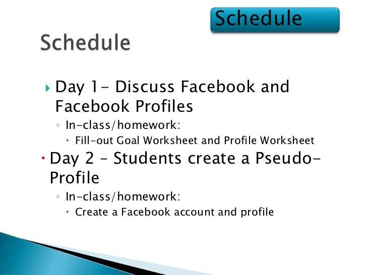 Facebook Profile Project