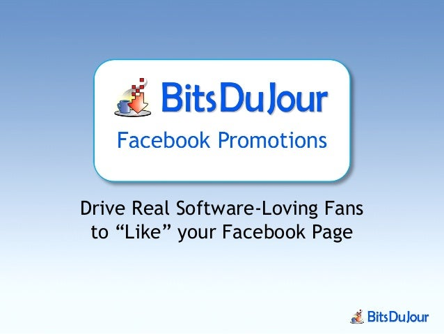 """Drive Real Software-Loving Fans to """"Like"""" your Facebook Page"""