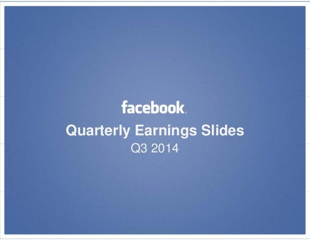 Quarterly Earnings Slides  Q3 2014