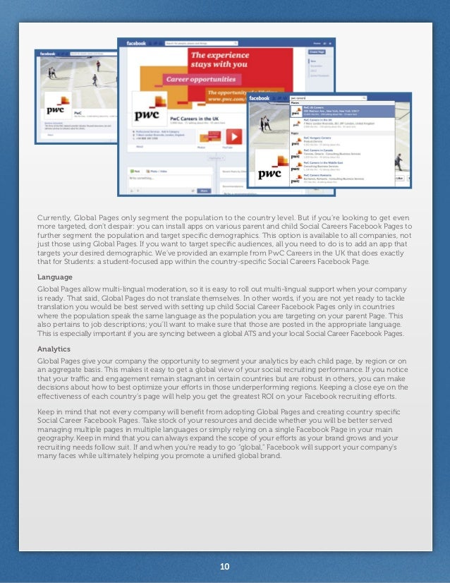 facebook recruitment and employer branding As the global economy grows and the talent market tightens, organizations must  place increased focus on their employment brand.