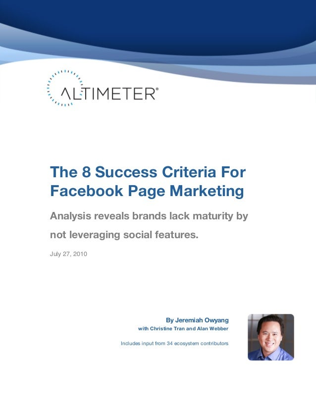 ! ! ! ! ! ! ! ! ! ! ! ! ! ! ! ! ! ! ! ! ! ! ! ! ! ! ! ! ! ! ! ! ! ! ! ! ! The 8 Success Criteria For Facebook Page Marketi...