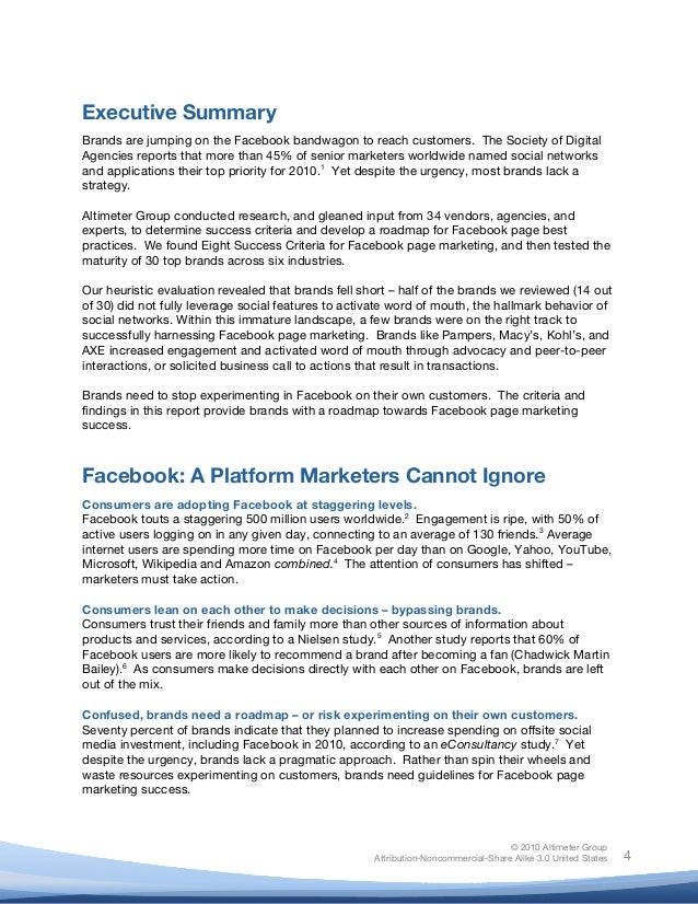 ! © 2010 Altimeter Group Attribution-Noncommercial-Share Alike 3.0 United States ! ! 4 Executive Summary Brands are jumpin...