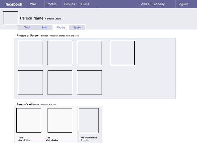 Facebook sample page blank template-1