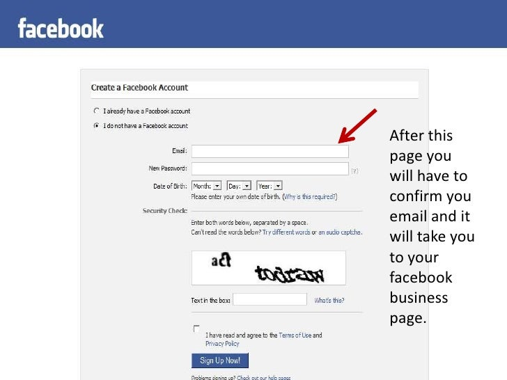 how to create business facebook