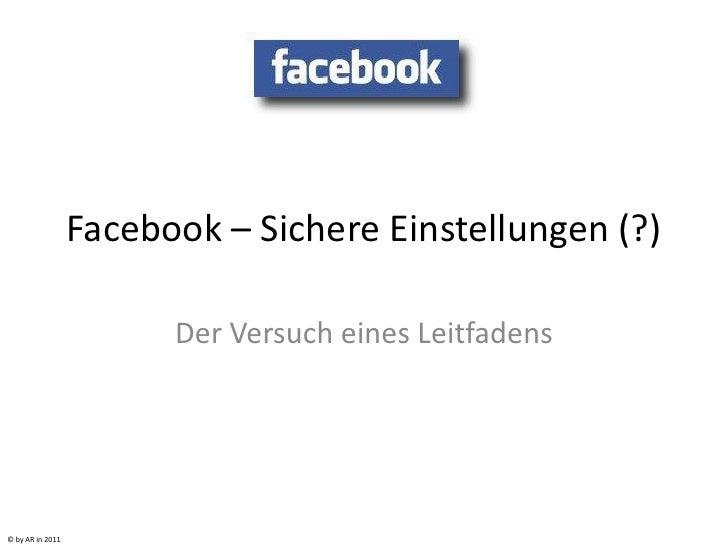 Facebook – sichere einstellungen