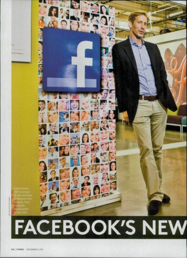 •  I '»-Kc Room,  -M  David Fischer (left ) oversees ' Bra  FACEBOOK'S NEW 106 I FORBES  DECEMBER 5.2011