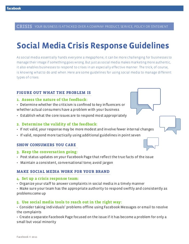 YOUR BUSINESS IS ATTACKED OVER A COMPANY PRODUCT, SERVICE, POLICY OR STATEMENTSocial Media Crisis Response GuidelinesAs so...