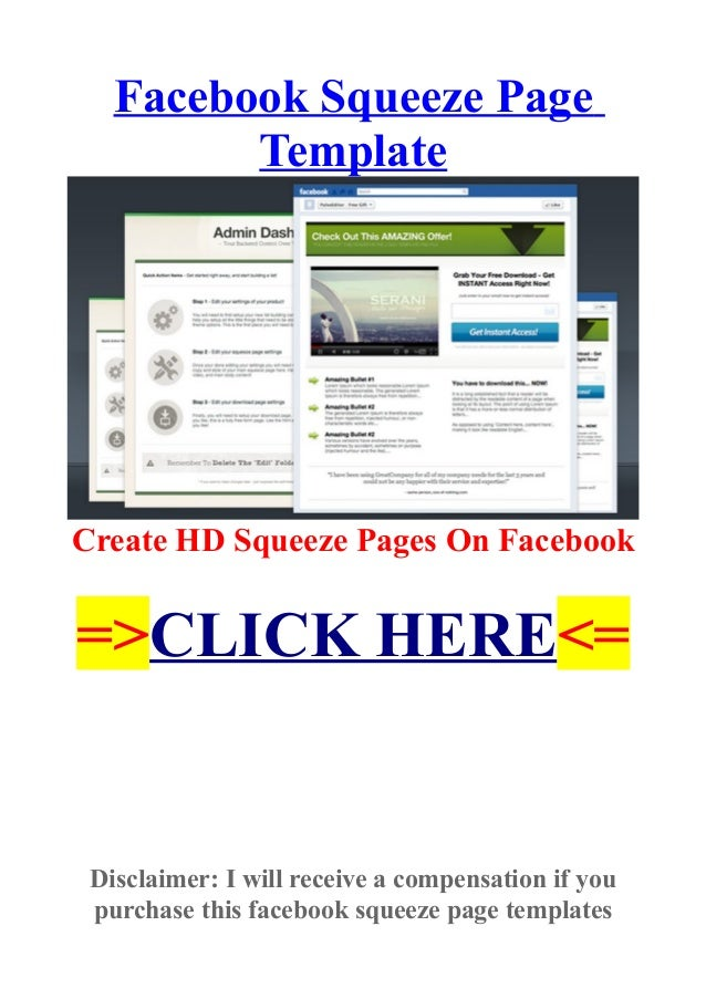 facebook squeeze page template create hd squeeze pages on facebook. Black Bedroom Furniture Sets. Home Design Ideas