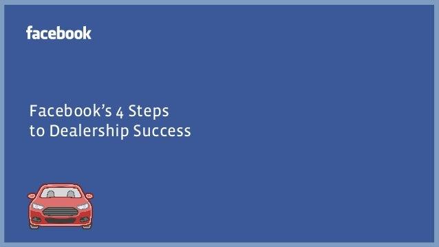 Facebook's 4 Stepsto Dealership Success