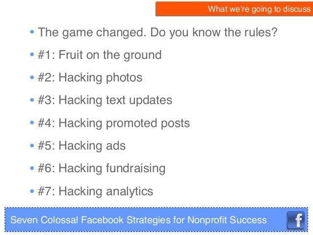 Facebook Success: 7 Strategies for Nonprofits Slide 2