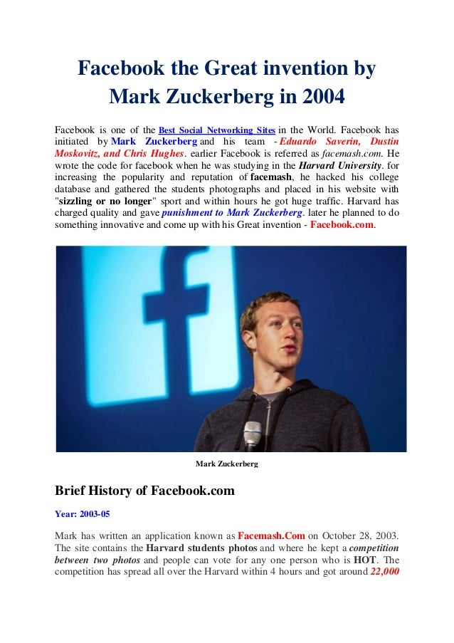 """facebook the great invention Without hesitation i think """"the pill"""" is the most important invention of my lifetime— not  pay at the pump was the greatest invention of my lifetime."""