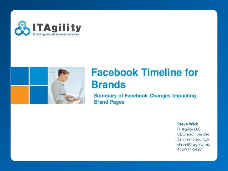 Facebook Timeline forBrandsSummary of Facebook Changes ImpactingBrand Pages