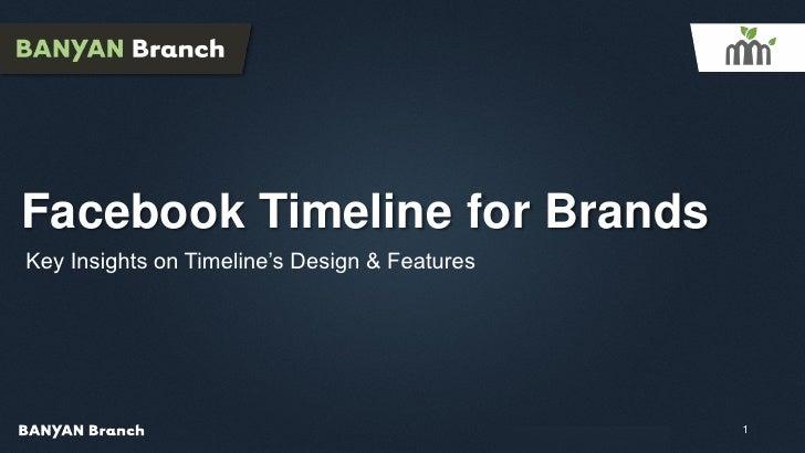 Facebook Timeline for BrandsKey Insights on Timeline's Design & Features                                               Con...