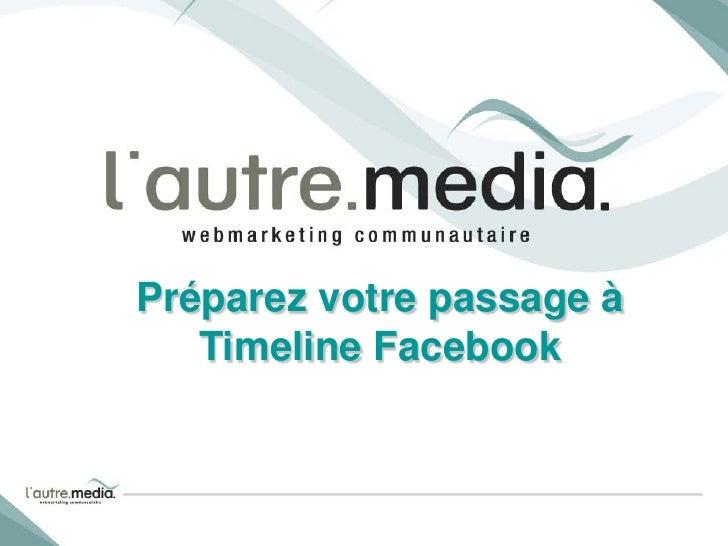 Préparez votre passage à   Timeline Facebook