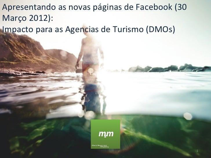 Apresentando as novas páginas de Facebook (30Março 2012):Impacto para as Agencias de Turismo (DMOs)                       ...
