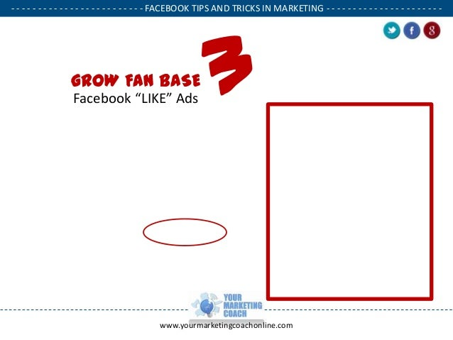 Facebook Tips and Tricks to Market your Small Business slideshare - 웹