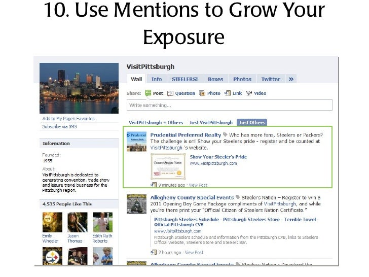 10. Use Mentions to Grow Your Exposure